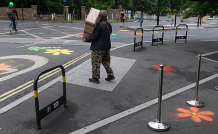 Dulwich Village brought in plant boxes to keep pedestrians safe