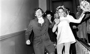 Roman Polanski and Sharon Tate on their wedding day in January 1968