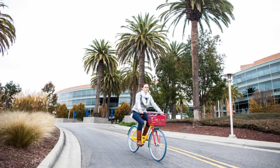 Google's headquarters in Silicon Valley. One venture capitalist believes that, despite an appetite for regulation, some tech companies may already be too big to control: 'The EU recently penalised Google $2.42bn for anti-monopoly violations, and Google's shareholders just shrugged.'