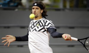 Feliciano Lopez was victorious in the Paris Masters on Monday.
