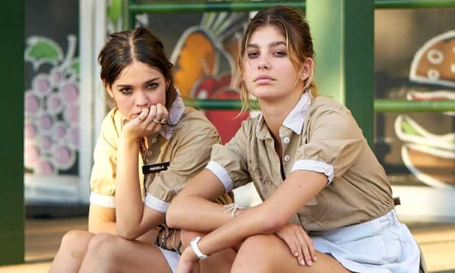 Maia Mitchell (L) and Camila Morrone (R) in Never Goin' Back.