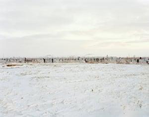 Graveyard near Kurchatov, Kazakhstan, 2011