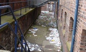 Piles of rubbish at HMP Liverpool.