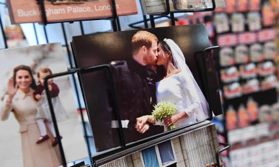 Postcard of Harry and Meghan's wedding.