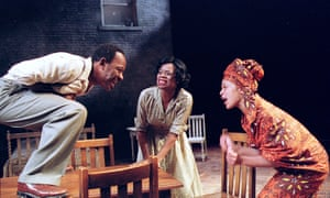 Lennie James, Cecilia Noble and Kananu Kirimi in Raisin in the Sun at the Young Vic, June 2001