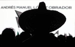 Silhouette of a sombrero