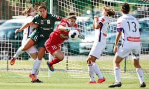 Perth Glory and Canberra United in action
