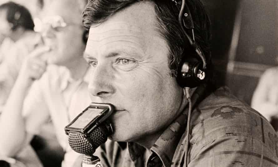 Peter Alliss commentating at Wentworth, Surrey, in the early 1980s.