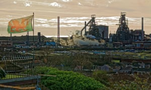 The steelworks in Port Talbot
