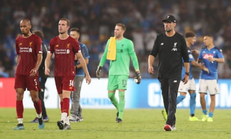 Jürgen Klopp blames dive and VAR for Liverpool's defeat to Napoli