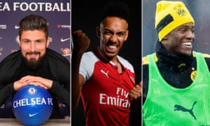 Pierre-Emerick Aubameyang's move to Arsenal opened the door for Olivier Giroud to cross the capital to Chelsea and Michy Batshuayi to be loaned to Dortmund.