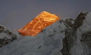 Mount Everest, photographed in November 2015.