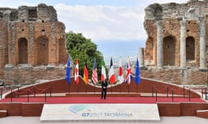 Italian Prime Minister Paolo Gentiloni at the G7 in Sicily last week.
