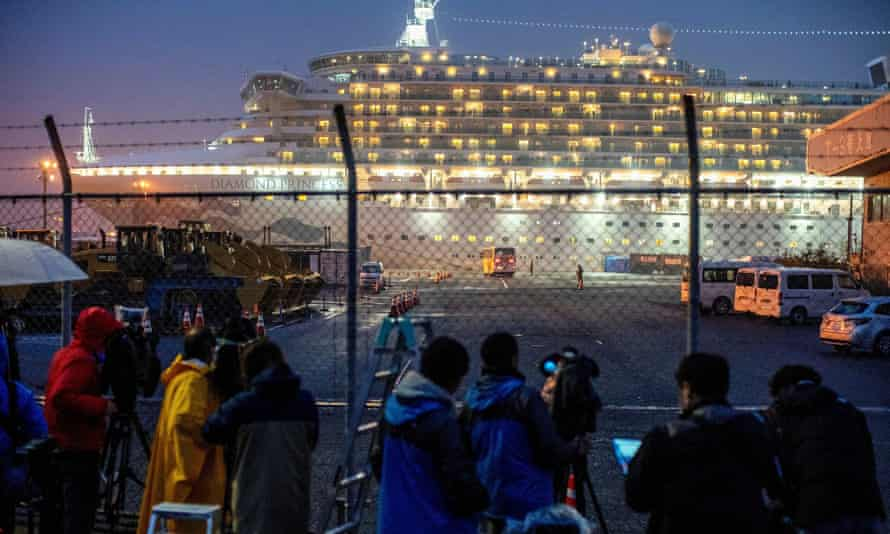 The Briton who died had been a passenger on the Diamond Princess cruise ship, which had been quarantined off the cost of Japan.