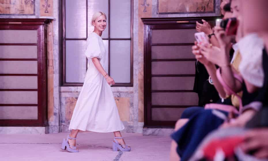 Nicola Glass at her Kate Spade New York fashion week show.