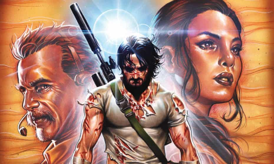 BRZRKR #1 cover variant, Keanu Reeves' comic, illustrated by Mark Brooks.