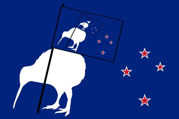 Image of the Flag bearing kiwi flag.