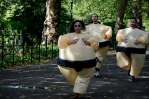 """<strong>The Sumo Run @ Battersea Park </strong><br>I volunteered to take some photo's of The Sumo Run for the charity Link Community Development and this is one from the day<br>Photograph: <a href=""""https://witness.theguardian.com/assignment/55b0f634e4b02ab2dca28ece/1639028"""">Charlotte Weddell/GuardianWitness</a>"""