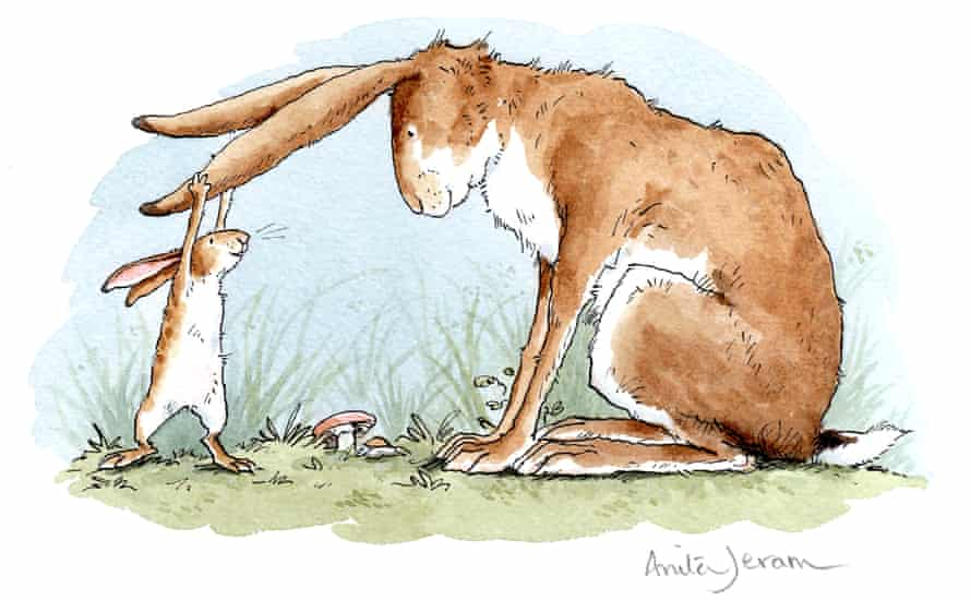 Guess How Much I Love You, a bestseller since 1994 illustrated by Anita Jeram, is unusual among the top 100 books for having a father as a central figure.