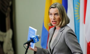 The EU foreign affairs chief, Federica Mogherini:'This is not a bilateral agreement … it belongs to the international community.'