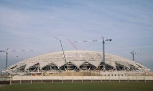 A general view of the Samara Arena.