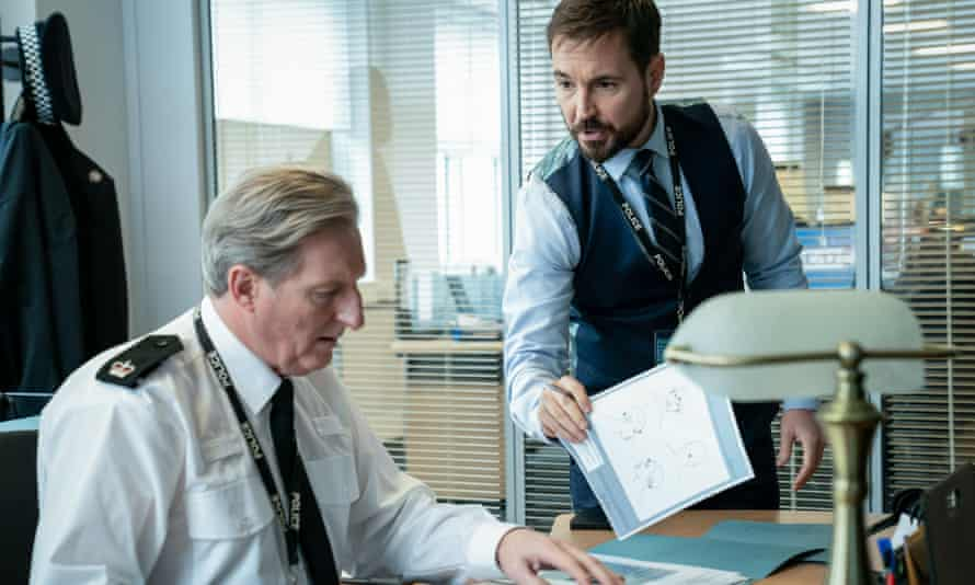 Martin Compston with Adrian Dunbar in the new series of Line of Duty.