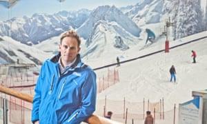 Dan Charlish, founder of Snow-Camp, at The Snow Centre, Hemel Hempstead