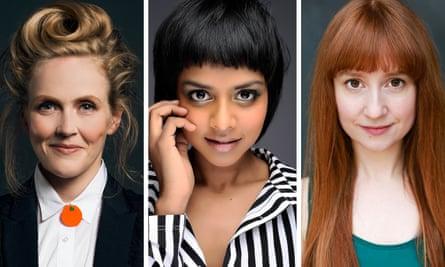 Cheerful hour … Pippa Evans, Yshani Perinpanayagam and Susan Harrison.