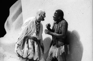 Alexei Sayle as Trinculo and Rudolph Walker as Caliban in The Tempest
