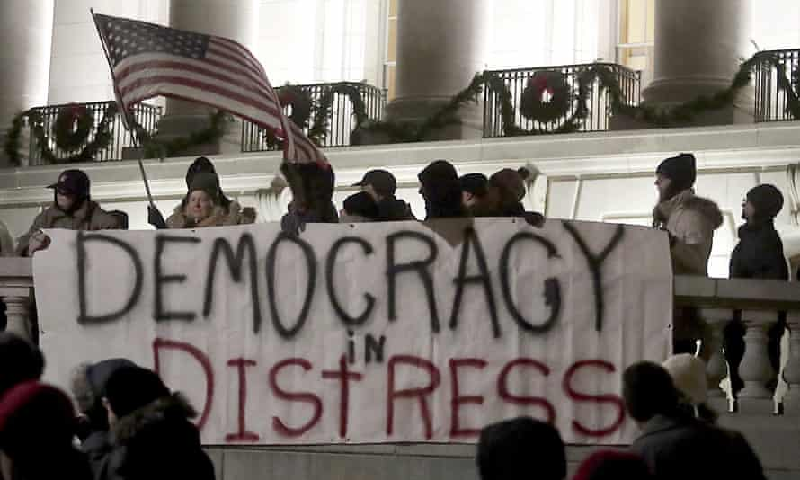 'They are deliberate efforts to undermine democracy and our faith in it. And these efforts are getting more brazen and desperate every year.'