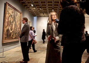 Sheena Wagstaff, right, head of modern and contemporary art at the Metropolitan Museum of Art, at the Met Beuer's launch.