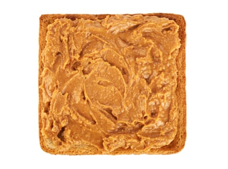 Peanut butter on toast: a high-density snack.