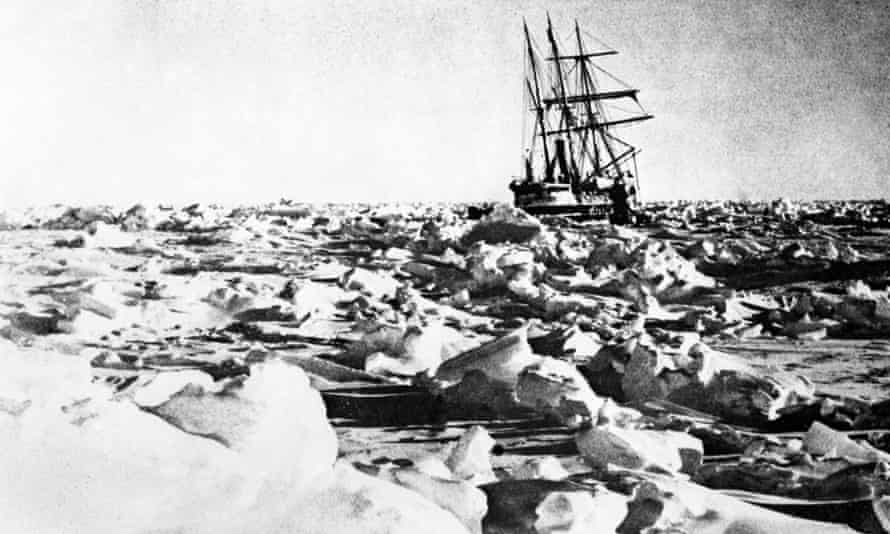 Sir Ernest Shackleton's ship Endurance trapped in Antarctic ice