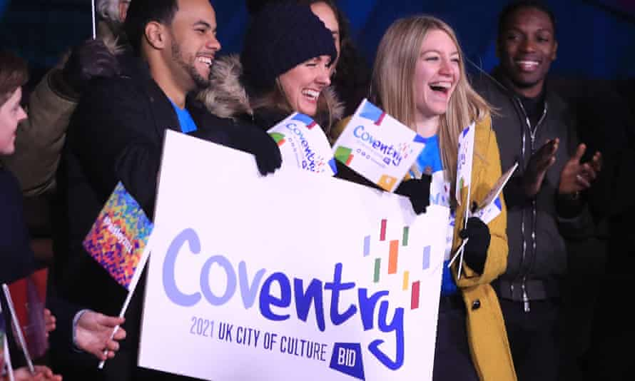 People in Hull celebrate Coventry becoming the next UK City of Culture in 2021.