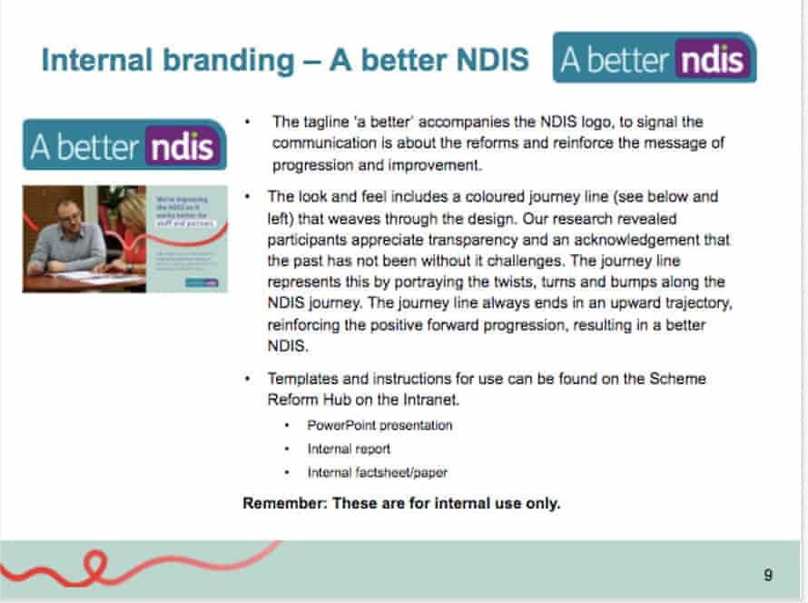 A slide from an internal NDIA staff presentation.