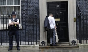 Dominic Cummings arriving at No 10 Downing Street.