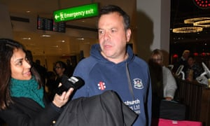 Arron Banks arriving at Gatwick on Saturday.