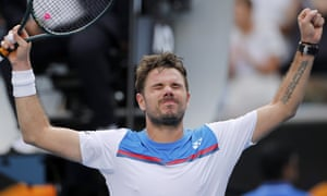 Stan Wawrinka celebrates after his hard-fought victory