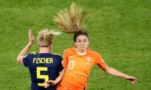 Daniëlle van de Donk, in action here in the semi-final against Sweden, says: 'We might surprise them.'