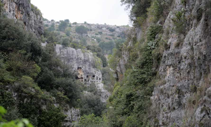 The gorge-side tombs of Pantalica.