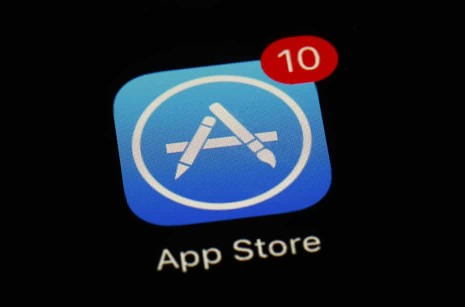 App store icon with updates pending
