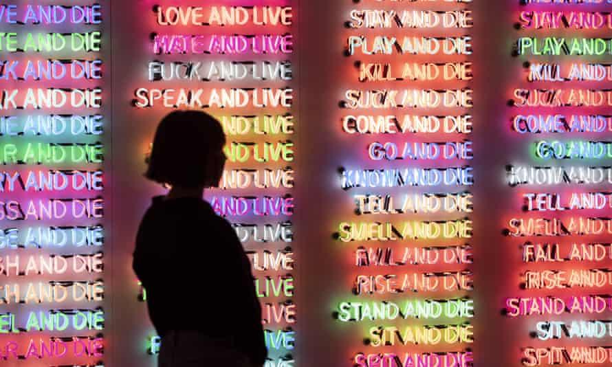 Bruce Nauman exhibition at Tate Modern, London, 2020.