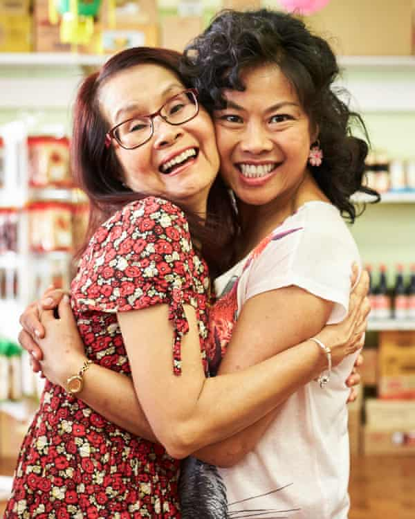 Real life Jenny with her on-screen counterpart, Fiona Choi