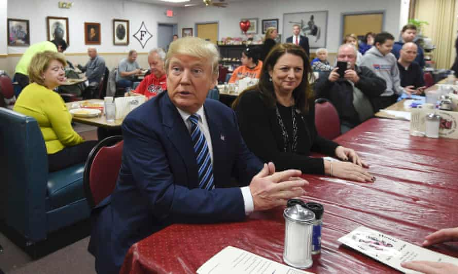 Where can a Trump-lover get a meal in peace? The lunchtime crowd at Tommy's Country Ham House in Greenville, South Carolina, on 16 February 2016.