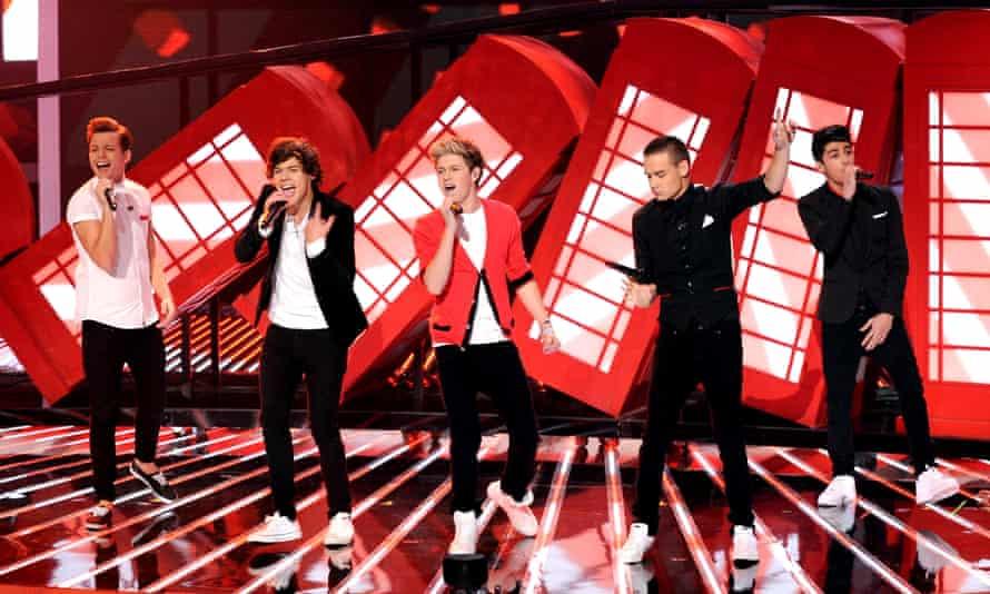 Louis Tomlinson, Harry Styles, Niall Horan, Liam Payne and Zayn Malik in 2012.