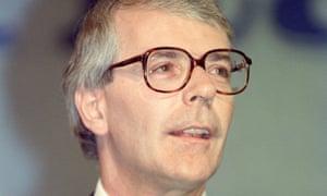 John Major in 1991.
