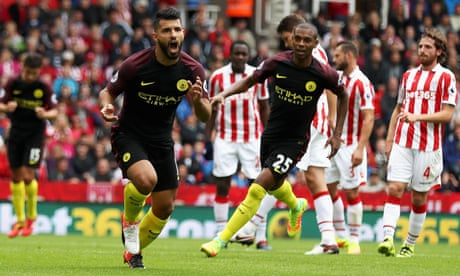 Manchester City Brush Aside Stoke With Sergio Aguero And Nolito Doubles