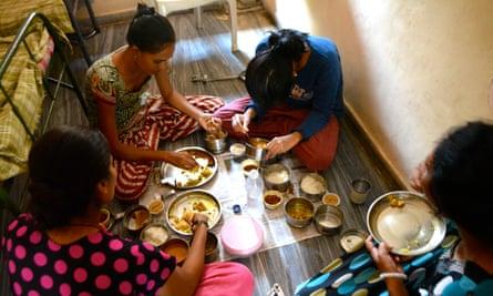 Women staying at the Akanksha clinic's surrogate quarters