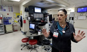 A nurse at the trauma center at the University Medical Center in Las Vegas.