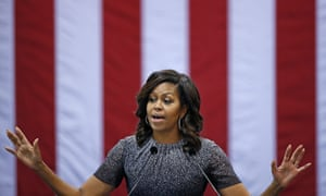 Michelle Obama during a campaign rally for Hillary Clinton last month.